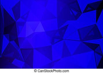 Dark blue random sizes low poly background
