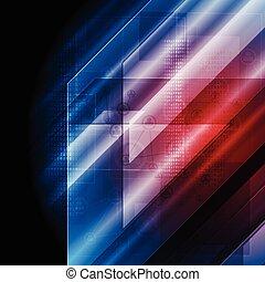 Dark blue red tech vector backgroun