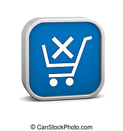 Dark Blue Remove from Cart Sign