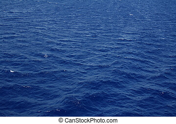 Dark blue sea water surface with ripple