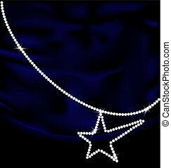 dark blue silk and jewel star