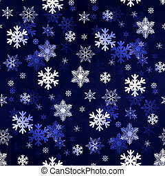 Dark Blue Snowflakes