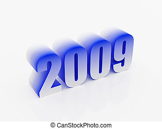 Dark blue symbol of new year