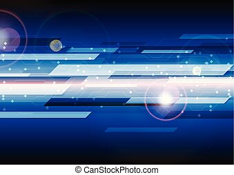 Dark blue technology circuit board lines background