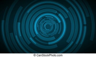 Dark blue technology futuristic animated background