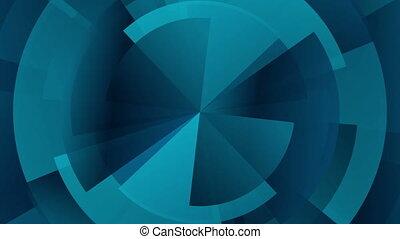 Dark blue technology gear diagram video animation