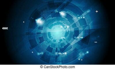 Dark blue technology video animation