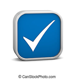 Dark Blue Tick Sign