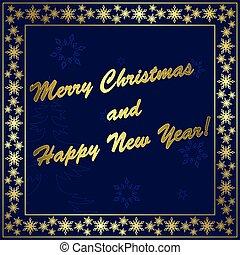 dark blue vector christmas card