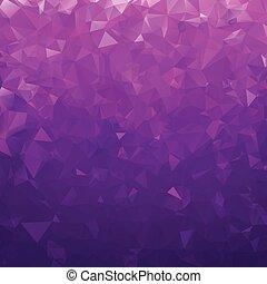 Dark Blue Violet Polygonal Mosaic