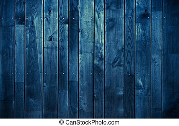 Dark Blue Wood Background. Blue Painted Wood Background.
