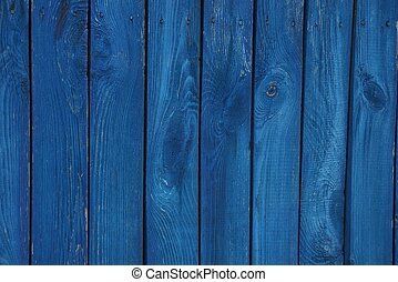 dark blue wooden texture of planks in the wall fence