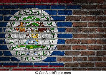 Dark brick wall - Belize