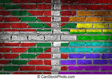 Dark brick wall -