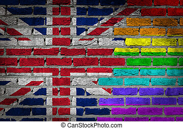 Dark brick wall - LGBT rights - United Kingdom