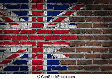 Dark brick wall - United Kingdom