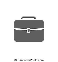 Dark briefcase icon on a white background