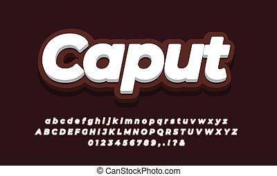 dark brown color 3d color text effect