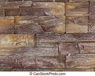Dark Brown Decorative Stone Wall