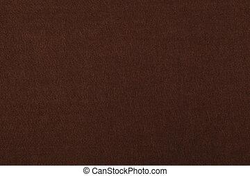 Dark brown felt background texture close up