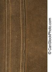 Dark brown leather detail