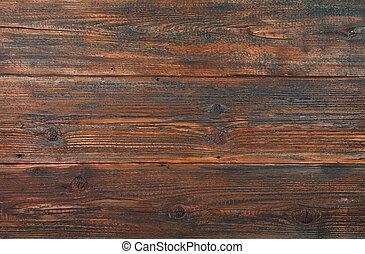 Dark brown old vintage wooden planks background - Dark brown...