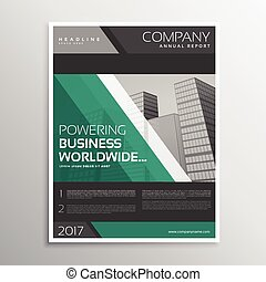 dark business brochure template design with diagonal lines