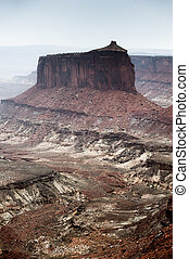dark canyonland - dark scenery at island of the sky, in ...