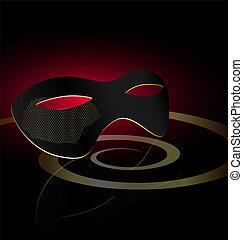 dark carnival half-mask