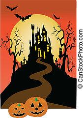 dark castle and halloween
