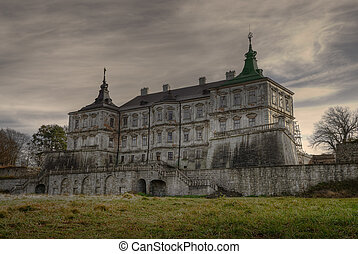 Dark castle HDR - Pidhirtsi Castle is a residential castle...
