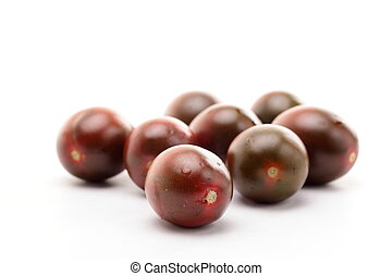 Dark cherry tomatoes