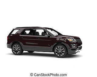 Dark chocolate brown modern SUV - side view