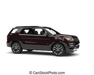 Dark chocolate brown modern SUV - side view
