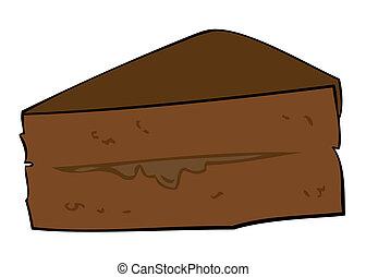 Dark Chocolate Cake slice.