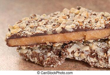 Dark Chocolate English Toffee with pecan unts - Delicious...