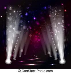dark Christmas Stage Spotlight