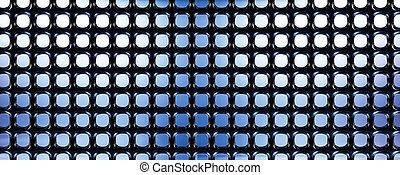 Dark chrome metal background with perforated holes 3d rendering illustration