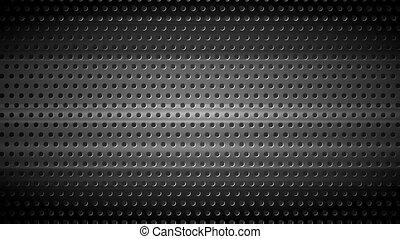 Dark chrome perforated metal texture video animation - Dark...