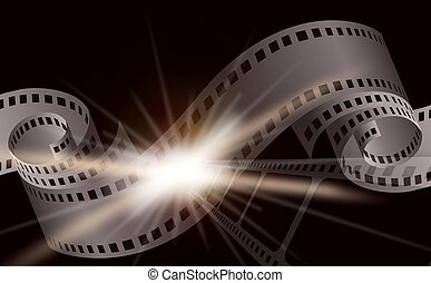 Dark Cinema film background - Dark cinema film background...