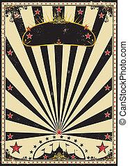 Dark circus - A retro circus poster for your advertising