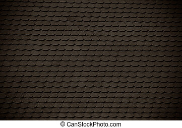 dark clay roof tile background