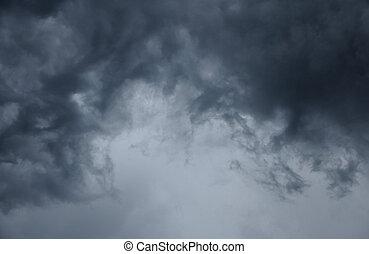 dark cloud before the rain