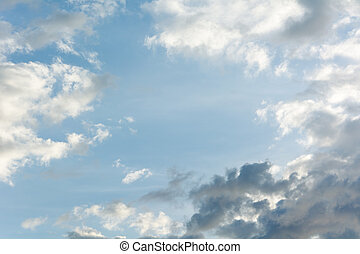cloud in the rainy season.
