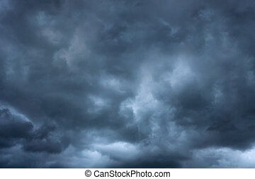 Dark cloud storm in summer before tornado is coming and bad weather