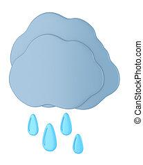 Dark cloud with raindrops
