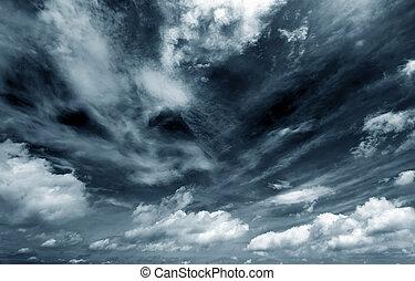 Dark clouds - Background of dark clouds before a...