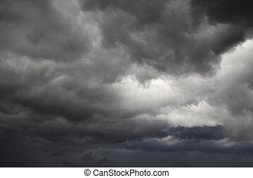 Darc clouds before rain