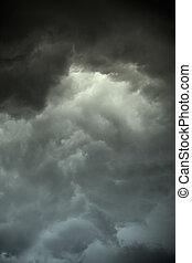 Dark stormy clouds