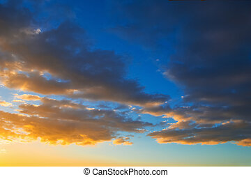 clouds in the sky at sunset